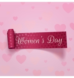 Pink festive ribbon international womens day vector