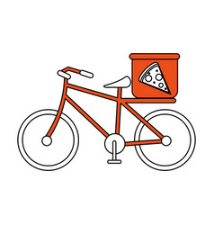 Pizza bycicle flat vector