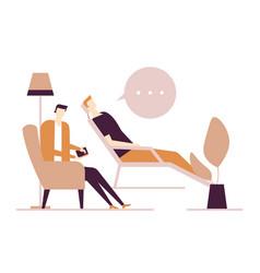 Psychologist - modern flat design style vector