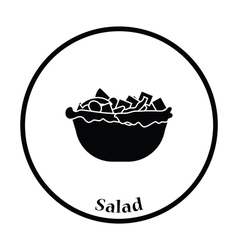 Salad in plate icon vector image