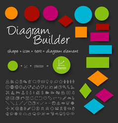 Schema diagram builder set vector