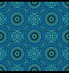 Seamless abstract geometrical flower mandala vector