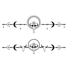 Set dividers with skulls vector