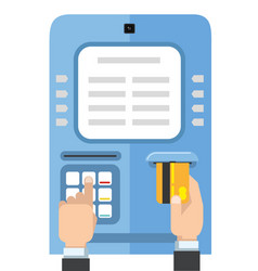 set of mobile payment vector image