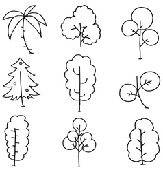 Simple tree on doodles vector