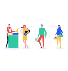 social distancing advice - flat design style vector image