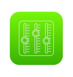 sound mixer icon green vector image
