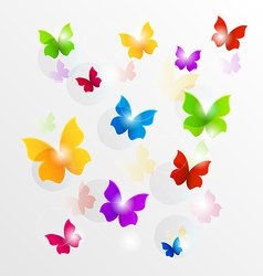 Spring wallpaper with painted butterflies vector image