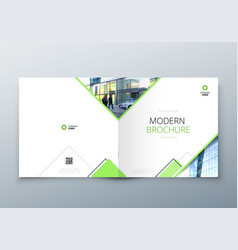 square brochure design for architecture travel vector image