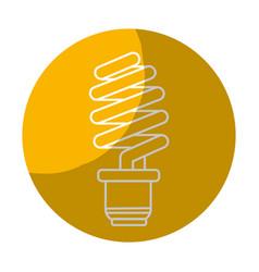 Sticker save energy light bulb vector