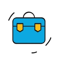 Suitcase icon isolated on white background vector image
