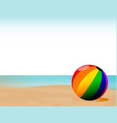 Summer beachball background vector