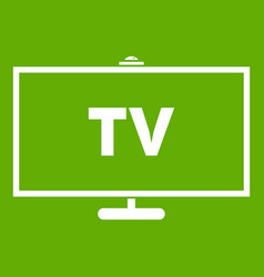 television icon green vector image