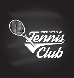 Tennis club vector