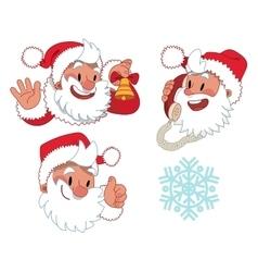 Three expressions santa claus character vector