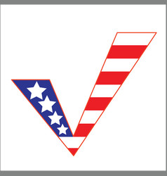 Us flag check mark concept symbol vector