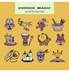 Voodoo African and American magic logo vector image