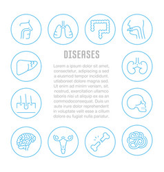 website banner and landing page diseases vector image