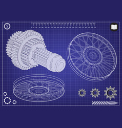 wheel and gear vector image