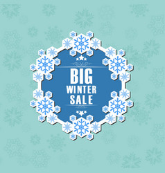winter sale background banner vector image