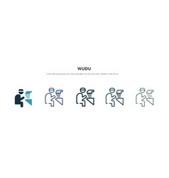 Wudu icon in different style two colored vector
