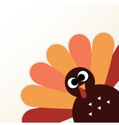 Beautiful cartoon Turkey Bird for Thanksgiving day vector image vector image