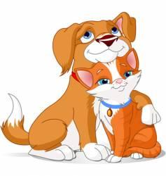best friends vector image vector image