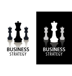 business strategy logo concept chess logo vector image