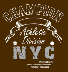 champion vector image vector image