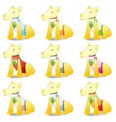 dogs in pet clothing set vector image vector image
