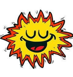 happy freehand drawn cartoon explosion sign vector image vector image