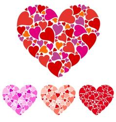 Heart design set vector image vector image