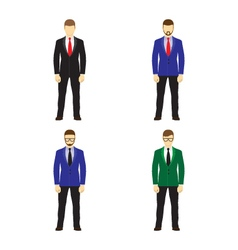 Male figures avatars Business people icons vector image vector image