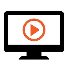 Play presentation sign vector image