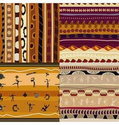 Set of seamless textures of African vector image vector image