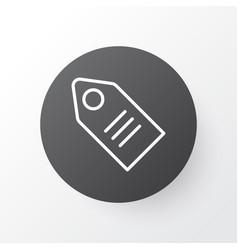 Badge icon symbol premium quality isolated ticket vector