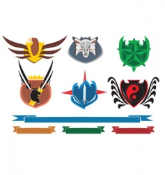 crests and banners vector image