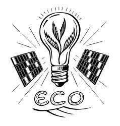 green energy sketch vector image vector image