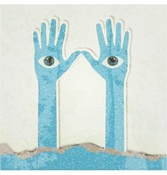 Hands Retro poster vector image