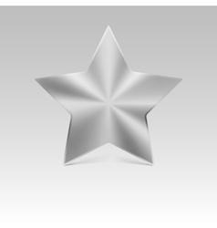 Metal star silver vector image
