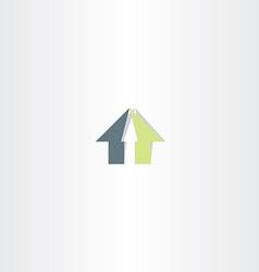 real estate home abstract symbol logo vector image vector image