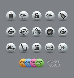 Shopping Icons Pearly Series vector image vector image