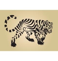 Tiger ornament decoration 3 vector image