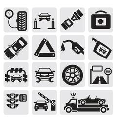 Car service set vector image