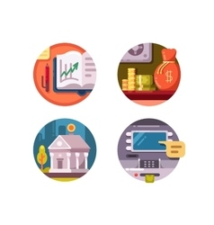 Financial institution money vector image vector image