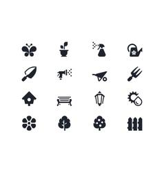 Gardening icons Lyra series vector image vector image