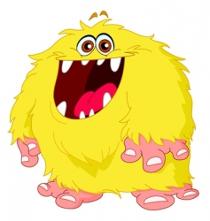 hairy monster vector image vector image