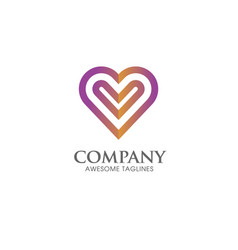 heart icon logo vector image