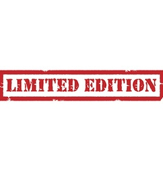 Limited edition stamp vector image vector image