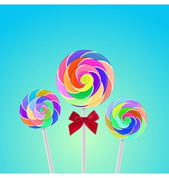 Rollipop candy colorful with background vector image vector image
